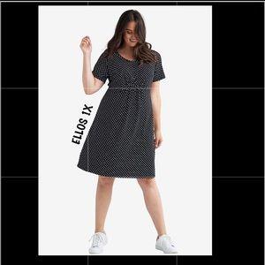 ▪️ELLOS▪️A-LINE POLKA DOTS DRESS 1X